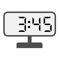 Digital Clock 03:45