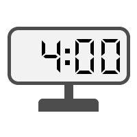 Digital Clock 04:00