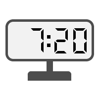Digital Clock 07:20