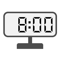 Digital Clock 08:00