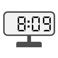 Digital Clock 08:09