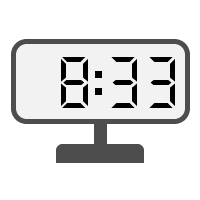 Digital Clock 08:33