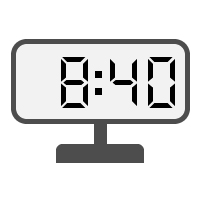 Digital Clock 08:40