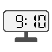 Digital Clock 09:10
