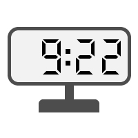 Digital Clock 09:22