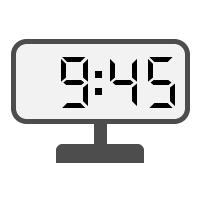 Digital Clock 09:45