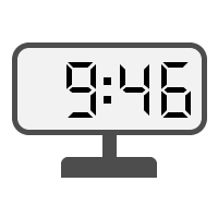 Digital Clock 09:46