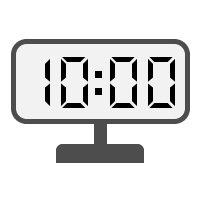 Digital Clock 10:00
