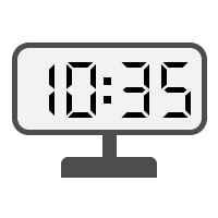 Digital Clock 10:35