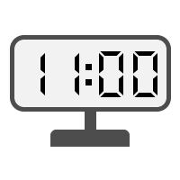 Digital Clock 11:00