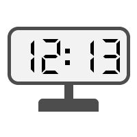 Digital Clock 12:13