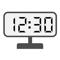 Digital Clock 12:30