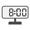 Digital Clock 08:00