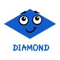 Basic Shapes - Diamond - With Label