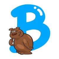 Letter B - Color