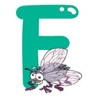 Letter F - Color
