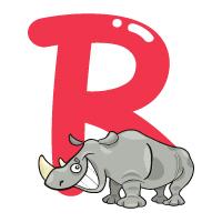 Letter R - Color