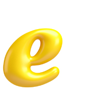 Letter E - Color - Lowercase