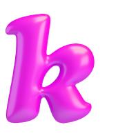Letter K - Color - Lowercase