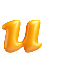 Letter U - Color - Lowercase