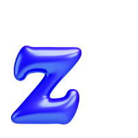 Letter Z - Color - Lowercase