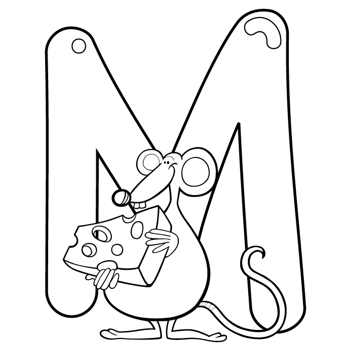 Coloring Letter M