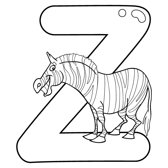 Coloring Letter Z