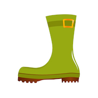 Fall - Rain Boot - Green