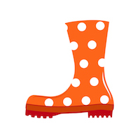 Fall - Rain Boot - Red