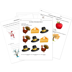 Free Back-to-School, Thanksgiving, and Fall Holidays Worksheets