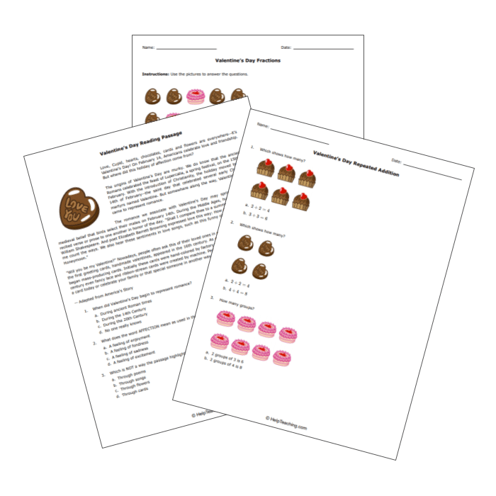 Printable Valentine's Day Worksheets