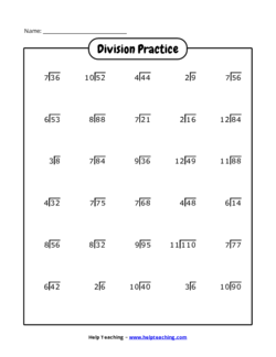 Free printable math worksheet and game generators helpteaching division worksheet generator ibookread Download